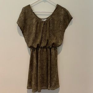Bar III Snakeskin Green Summer Dress